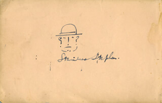 STAINLESS STEPHEN (ARTHUR CLIFFORD BAYNES) - SELF-CARICATURE SIGNED CO-SIGNED BY: LILY MORRIS