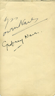 OWEN NARES - AUTOGRAPH CO-SIGNED BY: EDITH SHARPE, GEOFFREY NARES
