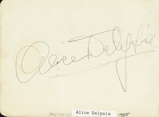 ALICE (ALICE LAPIZE) DELYSIA - AUTOGRAPH CO-SIGNED BY: HARRY ROY