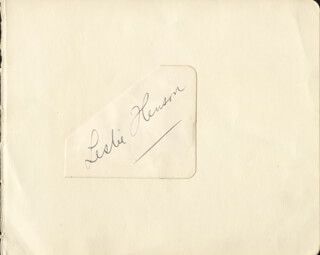 LESLIE HENSON - CLIPPED SIGNATURE