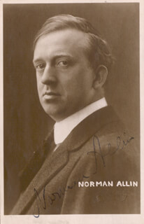 NORMAN ALLIN - PICTURE POST CARD SIGNED