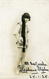 STEPHANIE STEPHENS - AUTOGRAPHED SIGNED PHOTOGRAPH 01/25/1925