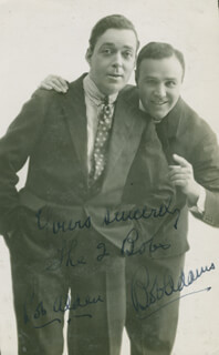 THE TWO BOBS - AUTOGRAPHED SIGNED PHOTOGRAPH CO-SIGNED BY: THE TWO BOBS (BOB ADAMS), THE TWO BOBS (BOB ALDEN)