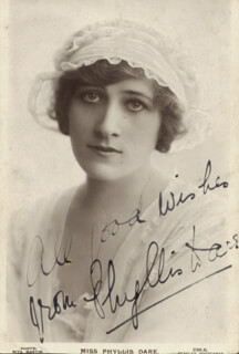 PHYLLIS DARE - PICTURE POST CARD SIGNED