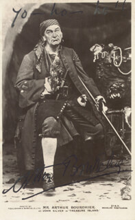 ARTHUR BOURCHIER - PICTURE POST CARD SIGNED