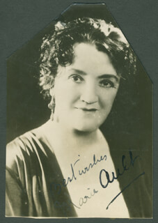MARIE AULT - AUTOGRAPHED SIGNED PHOTOGRAPH