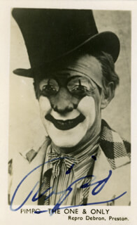 JIMMY PIMPO THE CLOWN FREEMAN - PRINTED PHOTOGRAPH SIGNED IN INK