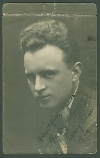 HARRY ANGERS - PICTURE POST CARD SIGNED 1919