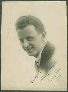 HARRY ANGERS - AUTOGRAPHED SIGNED PHOTOGRAPH 1919