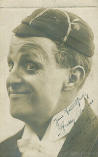 HARRY ANGERS - PICTURE POST CARD SIGNED