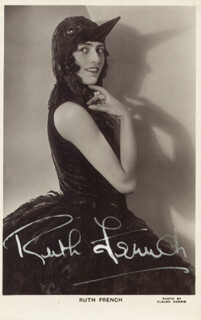 RUTH FRENCH - PICTURE POST CARD SIGNED