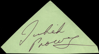JULIET PROWSE - CLIPPED SIGNATURE