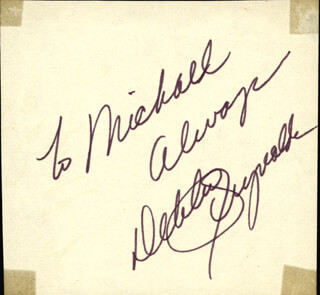 DEBBIE REYNOLDS - AUTOGRAPH NOTE SIGNED