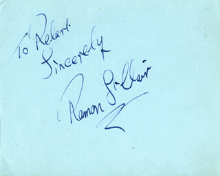 RAMON ST. CLAIR - AUTOGRAPH NOTE SIGNED CO-SIGNED BY: LEN MARTEN