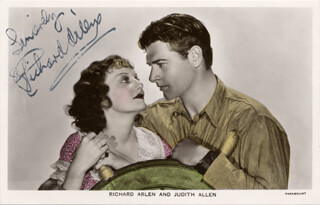 Autographs: RICHARD ARLEN - PICTURE POST CARD SIGNED