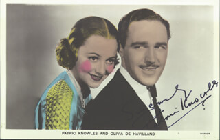 PATRIC KNOWLES - PICTURE POST CARD SIGNED