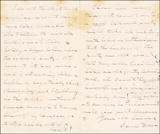 BRIGADIER GENERAL NEAL DOW - AUTOGRAPH LETTER SIGNED 12/03/1877
