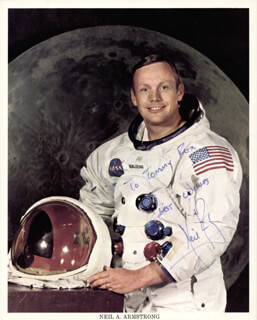 NEIL ARMSTRONG - INSCRIBED PRINTED PHOTOGRAPH SIGNED IN INK - HFSID 46918