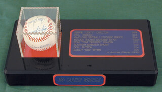300+ CAREER WINS - AUTOGRAPHED SIGNED BASEBALL CO-SIGNED BY: GAYLORD PERRY, DON SUTTON, STEVE CARLTON, PHIL KNUCKSIE NIEKRO, WARREN SPAHN, EARLY WYNN, NOLAN RYAN, TOM TOM TERRIFIC SEAVER
