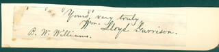 Autographs: WILLIAM LLOYD GARRISON - AUTOGRAPH SENTIMENT SIGNED