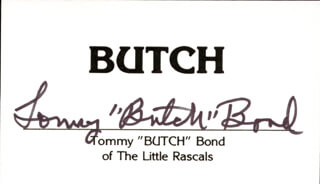 TOMMY BUTCH BOND - CALLING CARD SIGNED
