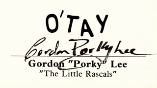 GORDON PORKY LEE - CALLING CARD SIGNED