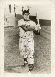 BOBBY THOMSON - AUTOGRAPHED INSCRIBED PHOTOGRAPH 1949