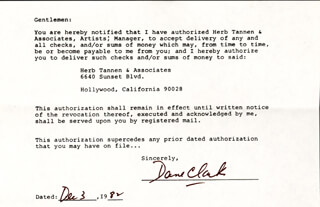 DANE CLARK - DOCUMENT SIGNED 12/03/1982