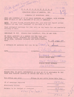 RICHARD DONNER - DOCUMENT SIGNED 01/12/1961
