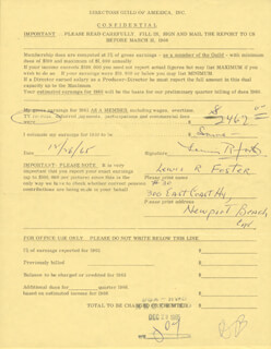 LEWIS R. FOSTER - DOCUMENT SIGNED 12/26/1965