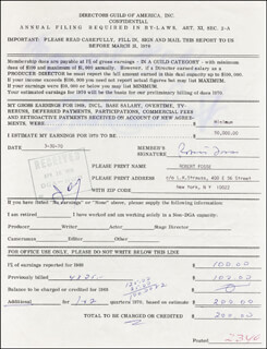 BOB FOSSE - DOCUMENT SIGNED 03/30/1970