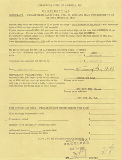Autographs: GEORGE ROY HILL - DOCUMENT SIGNED 02/28/1966