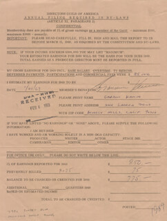 GARSON KANIN - DOCUMENT SIGNED 01/29/1969