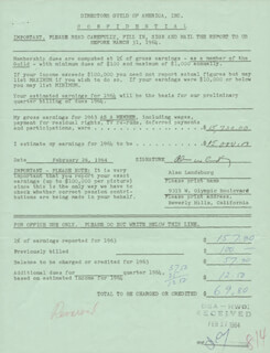 ALAN LANDSBURG - DOCUMENT SIGNED 02/26/1964