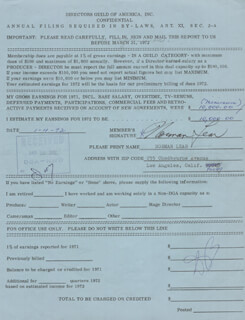 NORMAN LEAR - ANNOTATED DOCUMENT SIGNED 01/04/1972
