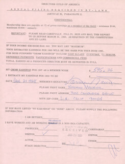 NORMAN MAURER - DOCUMENT SIGNED 01/24/1968
