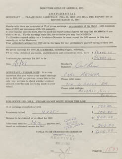 CARL REINER - DOCUMENT SIGNED 05/01/1967