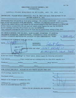 ROB REINER - DOCUMENT SIGNED 02/24/1975