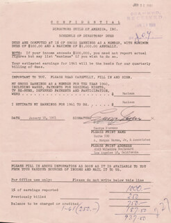 GEORGE STEVENS - DOCUMENT SIGNED 01/18/1961