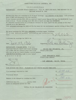 ERICH VON STROHEIM JR. - ANNOTATED DOCUMENT SIGNED 11/23/1966