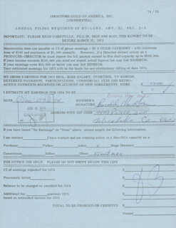 BUDDY VAN HORN - ANNOTATED DOCUMENT SIGNED 12/27/1974