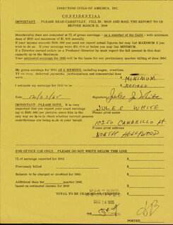 JULES J. WHITE - DOCUMENT SIGNED 12/23/1965