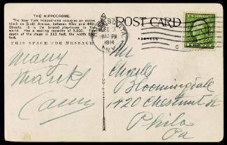 ENRICO CARUSO - PICTURE POST CARD SIGNED 12/03/1914