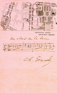 Autographs: CHARLES GOUNOD - AUTOGRAPH MUSICAL QUOTATION SIGNED