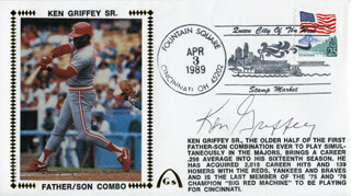 KEN GRIFFEY SR. - COMMEMORATIVE ENVELOPE SIGNED