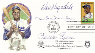 DUKE SNIDER - FIRST DAY COVER SIGNED CO-SIGNED BY: PEE WEE REESE, DON DRYSDALE