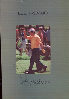 LEE TREVINO - MAGAZINE PHOTOGRAPH SIGNED