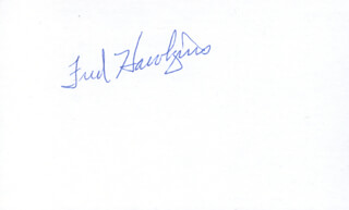 FRED HAWKINS - AUTOGRAPH
