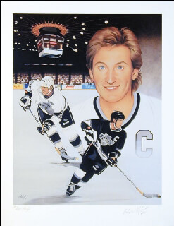 WAYNE GRETZKY - AUTOGRAPHED SIGNED POSTER CO-SIGNED BY: JOE THIESS