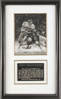 JOE MEAN JOE GREENE - AUTOGRAPHED SIGNED PHOTOGRAPH